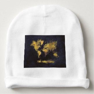 Gorrito Para Bebe amarillo negro del mapa del mundo
