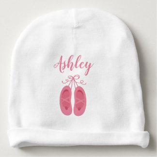 Gorrito Para Bebe Bailarín rosado de los zapatos de dedo del pie del