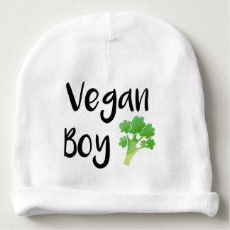 """Gorrito Para Bebe """"Bebé del bróculi del muchacho del vegano"""""""