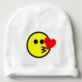 Gorrito Para Bebe Beso que sopla sonriente del dibujo animado feliz