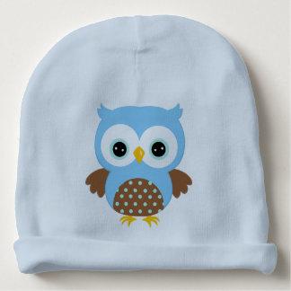 Gorrito Para Bebe Búho azul lindo