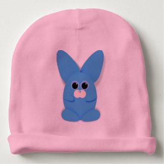 Gorrito Para Bebe Bunn azul en el gorra rosado del bebé