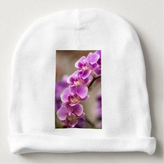 Gorrito Para Bebe Cadena de flor de color rosa oscuro de la orquídea