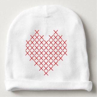 Gorrito Para Bebe Corazón de la puntada de la Cruz Roja