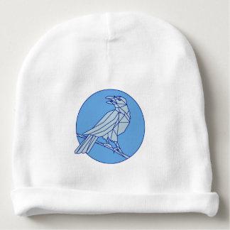 Gorrito Para Bebe Cuervo que se encarama mirando la mono línea del