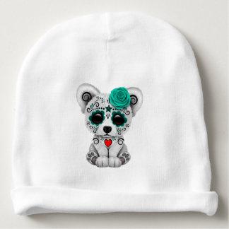 Gorrito Para Bebe Día azul del oso polar del bebé muerto