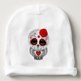 Gorrito Para Bebe Día rojo del búho muerto del bebé