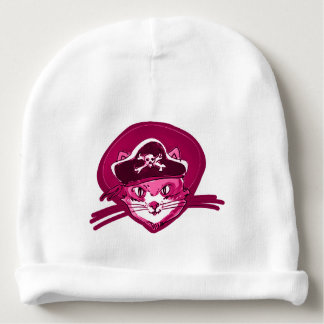 Gorrito Para Bebe dibujo animado púrpura del tinte del gatito dulce