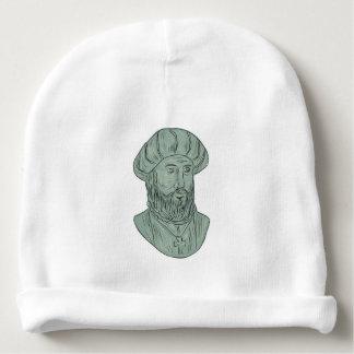 Gorrito Para Bebe Dibujo del busto del explorador de Vasco da Gama