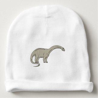 Gorrito Para Bebe Dinosaurio del Brontosaurus que mira abajo de mono