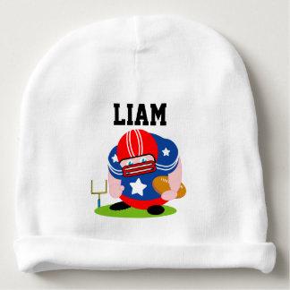 Gorrito Para Bebe Diseño patriótico adorable del jugador de fútbol