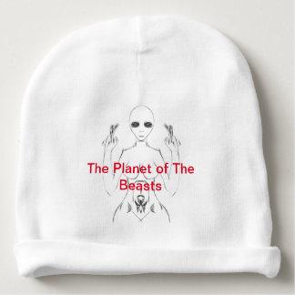 Gorrito Para Bebe E.T. femenino blanco Sketch en la gorrita tejida