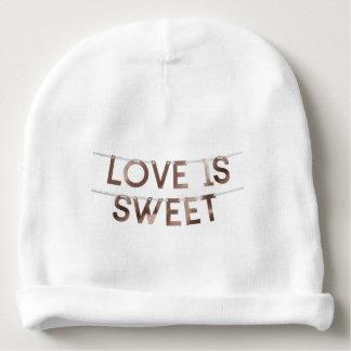 Gorrito Para Bebe el amor es gorrita tejida dulce del algodón del
