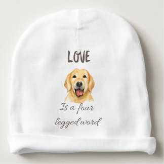 Gorrito Para Bebe El amor es una palabra legged cuatro