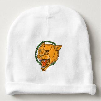 Gorrito Para Bebe El anillo el gruñir de la leona sale del tatuaje