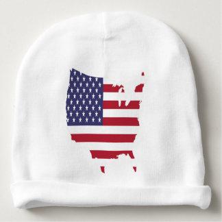 Gorrito Para Bebe el arte de América confina la bandera de país de