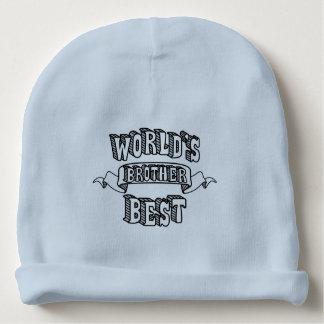 Gorrito Para Bebe El mejor gorra del bebé azul del texto de la