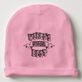 Gorrito Para Bebe El mejor gorra del bebé del rosa del texto de la