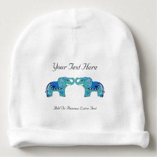 Gorrito Para Bebe Elefante de la alheña (azul/azul claro)