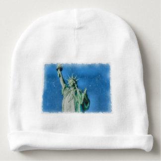 Gorrito Para Bebe Estatua de la libertad, pintura de las acuarelas