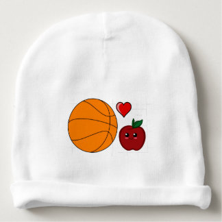 Gorrito Para Bebe Fan de baloncesto tonta de Apple