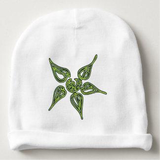 Gorrito Para Bebe Flor verde de neón