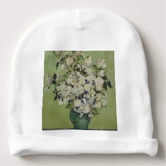Gorrito Para Bebe Florero de Vincent van Gogh de rosas que pintan