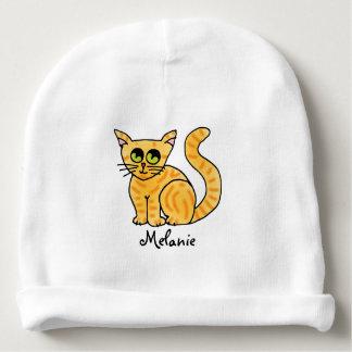 Gorrito Para Bebe Gato de Tabby anaranjado personalizado