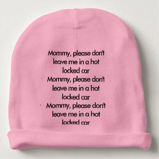 Gorrito Para Bebe Gorra del recordatorio de la seguridad del bebé