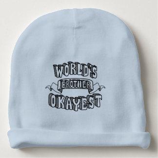 Gorrito Para Bebe Gorra divertido del bebé azul del texto de Okayest