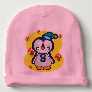 Gorrito Para Bebe Gorrita tejida del algodón del bebé, rosada con el