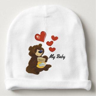 Gorrito Para Bebe Gorrita tejida del algodón del oso de peluche del