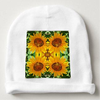 Gorrito Para Bebe Gorrita tejida del girasol del algodón del bebé