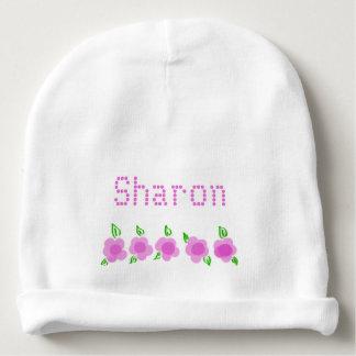 Gorrito Para Bebe Gorrita tejida floral rosada personalizada del