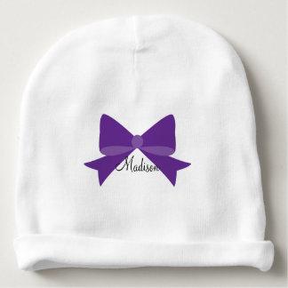 Gorrito Para Bebe Gorrita tejida púrpura del bebé del monograma del