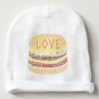 Gorrito Para Bebe Hamburguesa ilustrada con palabra del amor