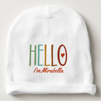 "Gorrito Para Bebe ""Hola soy…"" Personalizado"