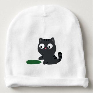 Gorrito Para Bebe Ilustracion del gatito y del pepino