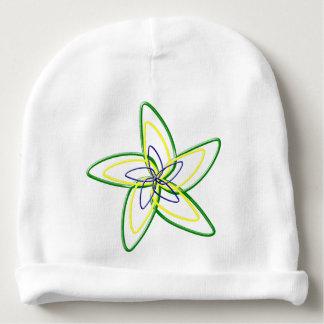Gorrito Para Bebe La gorrita tejida del algodón del bebé de la flor