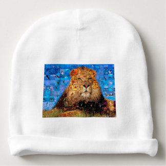 Gorrito Para Bebe león - collage del león - mosaico del león - león