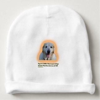 Gorrito Para Bebe Los perros son mejores que seres humanos