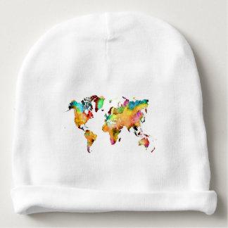 Gorrito Para Bebe mapa del mundo