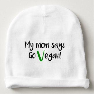 """Gorrito Para Bebe """"Mi mamá dice va vegano!"""" bebé"""