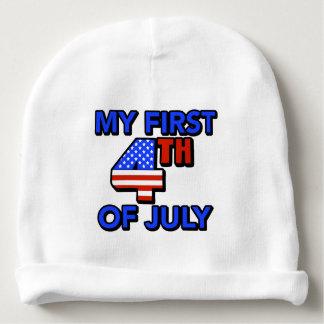 Gorrito Para Bebe Mi primer 4to del bebé de julio patriótico