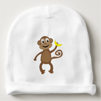 Gorrito Para Bebe Mono - gorra recién nacido de la selva tropical