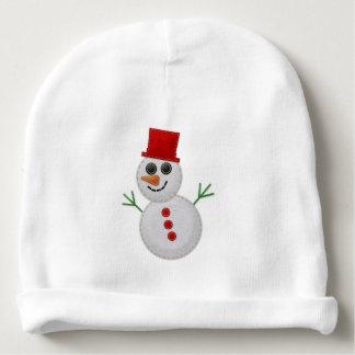 Gorrito Para Bebe Muñeco de nieve EDITABLE del fieltro