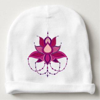 Gorrito Para Bebe Ornamento étnico de la mandala del loto de la flor