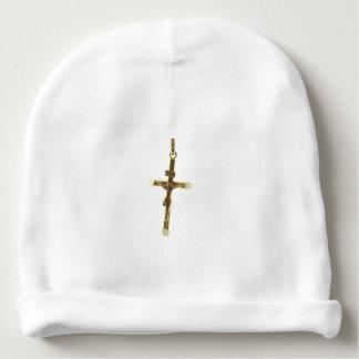 Gorrito Para Bebe Oro cruzado del Jesucristo horizontal