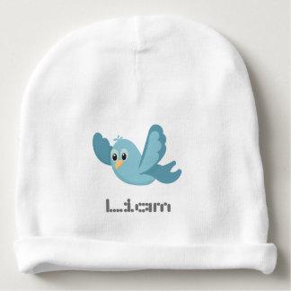 Gorrito Para Bebe Pájaro azul personalizado