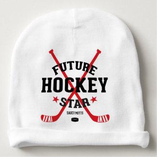 Gorrito Para Bebe Palillos de hockey rojos de la estrella futura del
